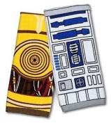 Star Wars R2-d2 & C-3po Hand Towel Set By Tg