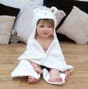 Bathing Bunnies Teddy Baby Hooded Towel Cream White