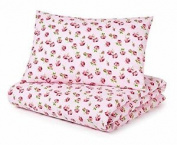 Cot Bed Duvet Cover And Pillowcase Set Pink Roses