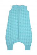 Slumbersac Children's Summer Sleeping Bag with Feet approx. 1 Tog - Teal Stars - 4-5 years