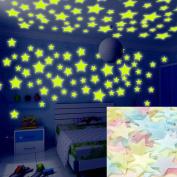 100 Pcs 3d Wall Glow In The Dark Stars Stickers Kids Bedroom Nursery Room Decor