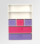 Rainbow Bedroom Pink/purple Storage Cupboard Bookcase Drawer Unit Toys Boxes