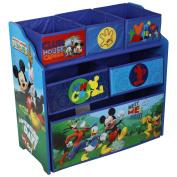 Disney Mickey Mouse Wooden Multi-bin Kids Toy Storage Organiser Childrens Tidy