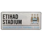 Manchester City Fc Official Etihad Stadium Metal Stadium Street Sign