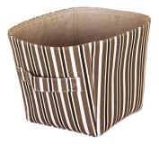 Ordinett 5202012829 Storage Basket Canvas Brown / Orange M Assorted Colours
