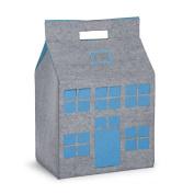 B#childwood Kids Children Toy Storage Box Grey And Turquoise 50x35x72 Cm Ccfpt