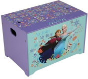 Toy Box Chest Storage Books Clothes Safe Free Standing Strong Wood High Quality