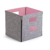 B#childwood Kids Children Foldable Storage Box Portable Cloud Grey+pink Ccfsbsp