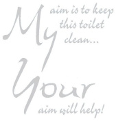 Toilet Seat Sticker Decal Quote My Aim Is To Keep This Toilet Clean In 30