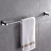 Single Shelf Rail Polished Chrome Bathroom Towel Rack Holder Stainless Steel Uk