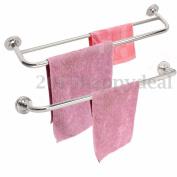 Stainless Steel Towel Bar Rail Rack Holder Rod Shelf Wall Mounted Bathroom Bath
