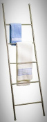 Standing Bath Towel Holder Ladder Rack Cloth Storage Brushed Stainless Steel