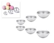 DSstyles 3 Pcs of Aluminium Ball Shaped Moulds Ball Pan Sphere Cake Pan for Baking