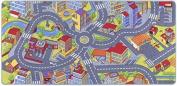 "misento 293308 Kids Area Rug, ""Street Map"", 95 x 200 cm, grey"