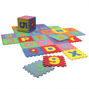 Charles Bentley Soft Eva Foam Alphabet & Numbers Jigsaw Puzzle Playmat