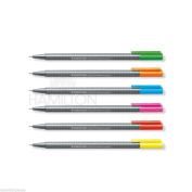 Staedtler Triplus Fineliner Neon Pens -  6 Neon Colours Available!