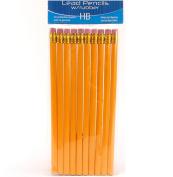 10 X 19cm School Hb Pencils Eraser Tipped Drawing Writing Yellow Unsharpened