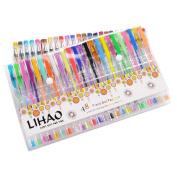 Lihao 48 Pcs Gel Pens Set Gel Pens Multi Pack Colouring Books 48 Colours
