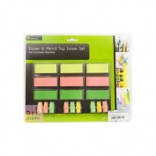 9pc Pencil Eraser & Toppers St5706 [office Product]