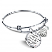 Graduation Bangle Bracelet Appreciation Gifts for Teacher - I learned from you,you'll always in my heart