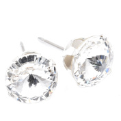 9mm Silver Plated stud earrings expertly made with Brilliant crystal from ®.