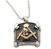HIRAM PENDANT NECKLACE WITH CHAIN FREEMASON MACON. MACONNIQUE. MACONNERIE
