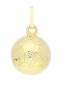 MyGold Football Pendant (without chain) Yellow Gold 8 Carat 333 Gold Ø 10 mm Gold Chain Men's Jewellery Football Necklace Munich Mod 03019