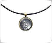 Beverage jewellery Can of Soda pendant Drink necklace