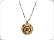 Animal pendant Vintage jewellery Tiger necklace