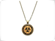 Nuclear pendant Sign jewellery Radioactive necklac
