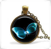 Blue By Your Butterfly Necklace