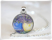 Tree Necklace Tree of Life Necklace Tree Jewellery Sun Necklace