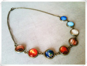 Solar system necklace, planets necklace
