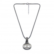 Luxurious Brand Rond Pearl Necklaces & Pendants Top Quality Women Ancient Silver Statement Pendant Necklace