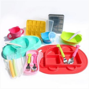 Petinube Silicone spoon & fork_yellow (Level 1) 2ea