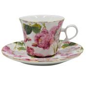 LA HAUTE Ceramic Tea Cup Porcelain Travel Coffee Mugs Handmade Saucer Espresso Mug Birthday Present Gift