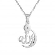 Allah Necklace Pendant With Chain Gold Plated Muslim Jewellery Women Chain Arab Islam Muslimah Middle Eastern