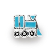 Liberty Charms Silver Plated Blue Enamel Train Charm Will Fit Most Charm Bracelets