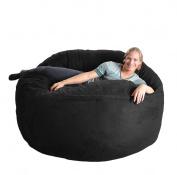 SLACKER sack 1.8m Foam Microsuede Beanbag Chair, X-Large, Black