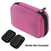 BTSKY 12 Bottle Durable Waterproof Hard Shell Essential Oils Case Bag Travel Bag Organiser Nail Polish Storage Box - Hold for 10ml, 10ml Rollers, & 5ml Bottle (Essential Oil Not Included)