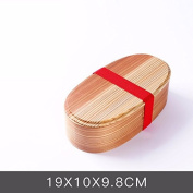 lzzfw Lunch Box Wood Students Sub-Grid Simple , 19 * 10 * 9.8Cm