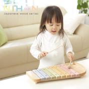 Educational toys / xylophone / xylophone / instruments / elephant / Ed enter wooden toys / wood / wood toys / Ed enter and 2-year-old and 3-year-old and 4-year-old / pastel / elephant / elephant / gifts / birthday / baby / gift / wood / Japan made