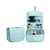 Huluwa Toiletry Bag Multifunction Cosmetic Bag Portable Makeup Pouch Waterproof Travel Hanging Organiser Bag for Women Girls, Green