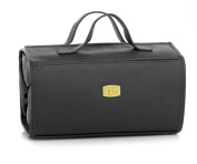 JOY Genuine Leather Large Better Beauty Case ~ Black