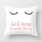Beauty Sleep Pink Throw Pillow Cover Decorative Accent Pillows 20 x 20 Pillow Case