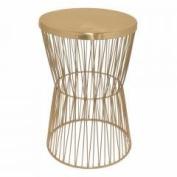 Metal Accent Table - Copper - Benzara