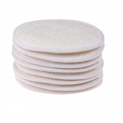 8 Pcs Natural Soft Unisex Exfoliating Loofah Sponge Pads Shower Gloves