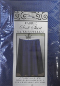 Fabric Sink Skirt Mosaic Stitch Cobalt Blue