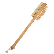 Wooden Body Bath Brush for Back Scrubber - Natural Bristles Shower Brush with Long Handle - Excellent for Exfoliating Skin and Cellulite - Use Wet or Dry - Suitable for Men and Women