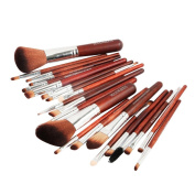 Sexyp 22pcs New Professional Makeup Brush Set Professional Wood Handle Premium Synthetic Kabuki Foundation Blending Blush Concealer Eye Face Liquid Powder Cream Cosmetics Lip Brush Set